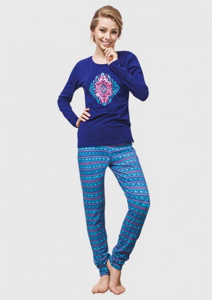Хлопковая женская пижама LNS 871 B6 Key  Key