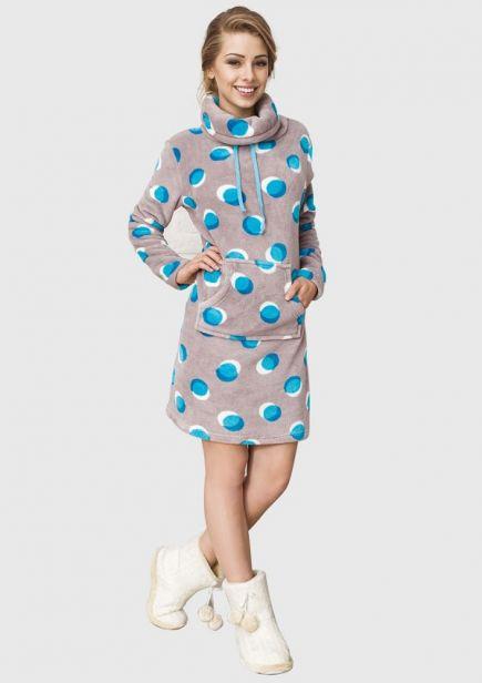 Флисовое женское домашнее платье LHD 054 B6 Key Key