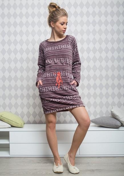 Женское флисовое платье LHD 954 B5 Key Key