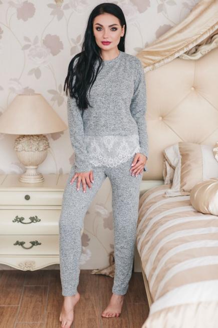 Женская пижама домашний костюм из вискозы с кружевом 1319 Shato e18913d04d62f