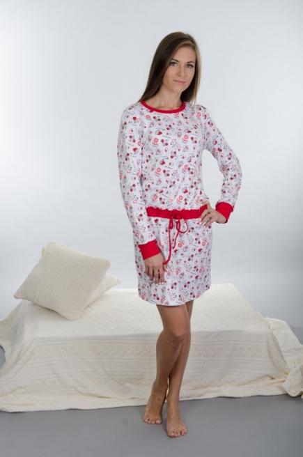 Хлопковое домашнее платье 129 Wiktoria Wiktoria