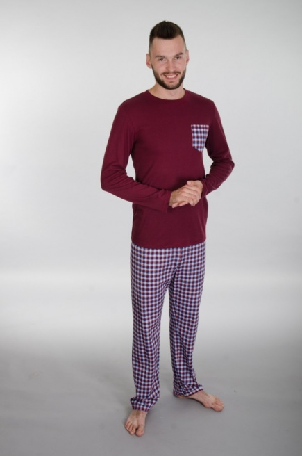 Мужская хлопковая пижама 143 Wiktoria (несколько цветов) Wiktoria
