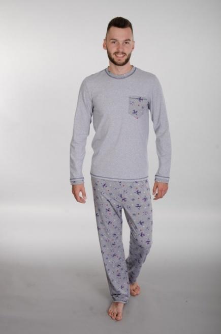 Мужская хлопковая пижама 144  Wiktoria (несколько цветов) Wiktoria