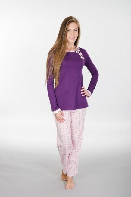 Хлопковая пижама с длинным рукавом и штанами 116 Wiktoria (несколько цветов) Wiktoria