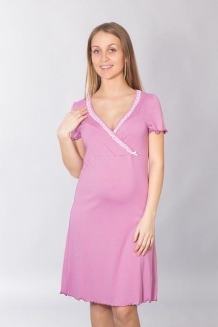 Хлопковая сорочка для беременных и кормящих мам 094 Wiktoria (несколько цветов) Wiktoria