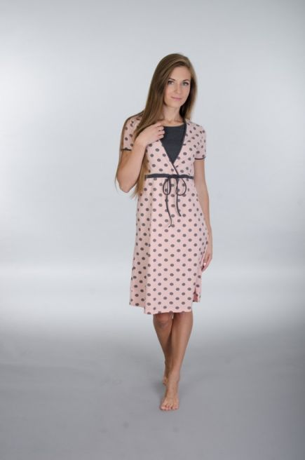 Хлопковая сорочка/домашнее платье для беременных и кормящих мам 106 Wiktoria (несколько цветов) Wiktoria