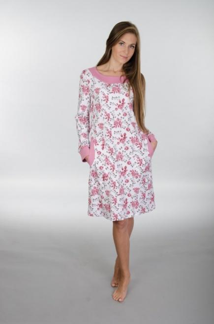 Ночная сорочка с длинным рукавом 117 Wiktoria  Wiktoria