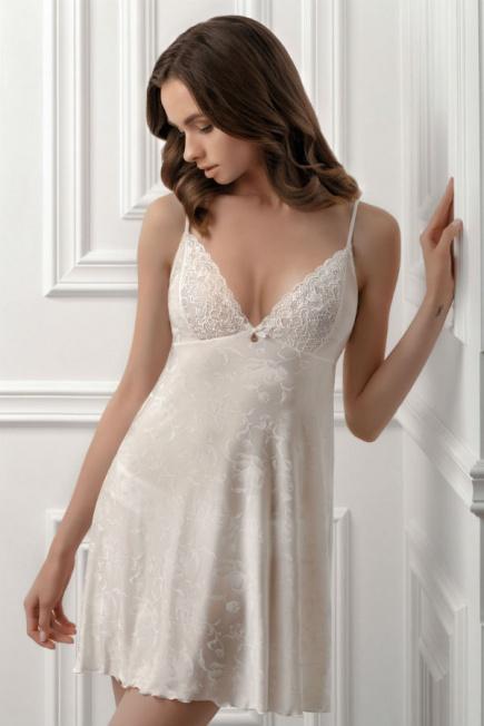Белая ночная сорочка 8112/96 Rebeca Jasmine Jasmine