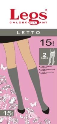 Гольфы Letto 15den 2 пары Legs Legs