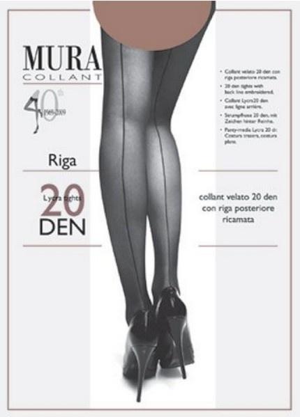 Колготки со швом сзади 223 Riga 20 den Mura Mura