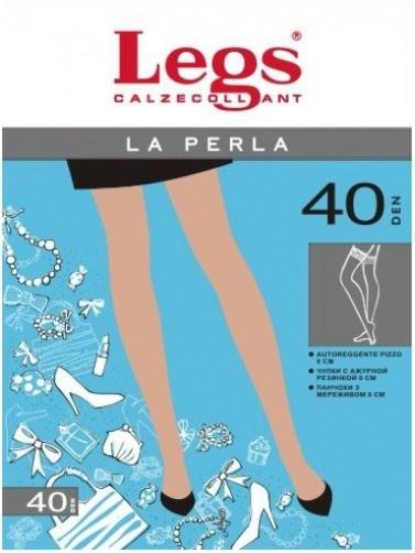Чулки с силиконовой кружевной резинкой La Perla 40den Legs Legs