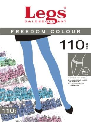 Цветные хлопковые колготки Freedom Colour 110den Legs Legs