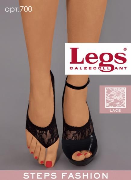 Кружевные подследники с открытым носком 700 Legs Legs
