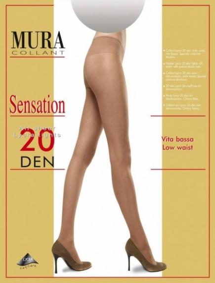 Колготки с заниженной талией 20den 802 Sensation 20 Mura Mura