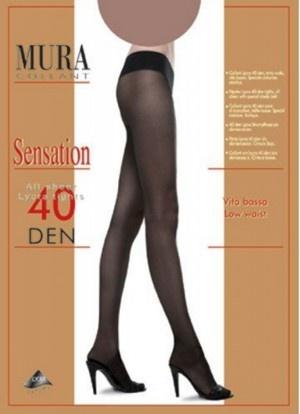 Колготки с заниженной талией 40den 804 Sensation 40 Mura Mura