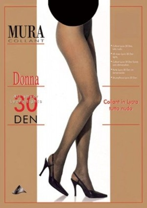 Тонкие и прозрачные колготы 30den 835 Donna Mura Mura
