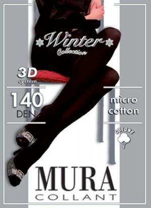 Колготки из микрофибры и хлопка 140den Micro Cotton 3d 140 Mura Mura