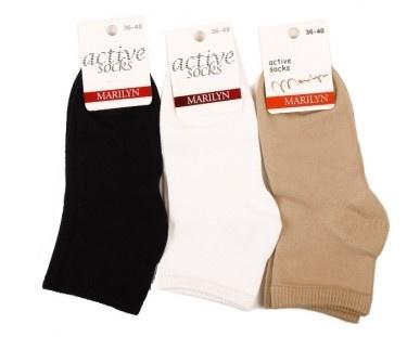 Однотонные хлопковые носки Forte 58 Marilyn Marilyn