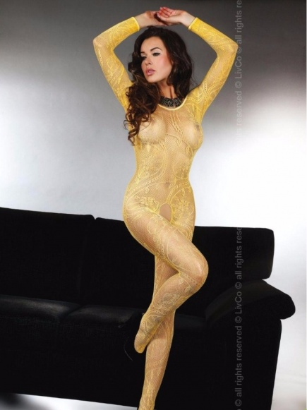 Женский боди - комбинезон с длинным рукавом Abra honey Livia Corsetti Livia Corsetti