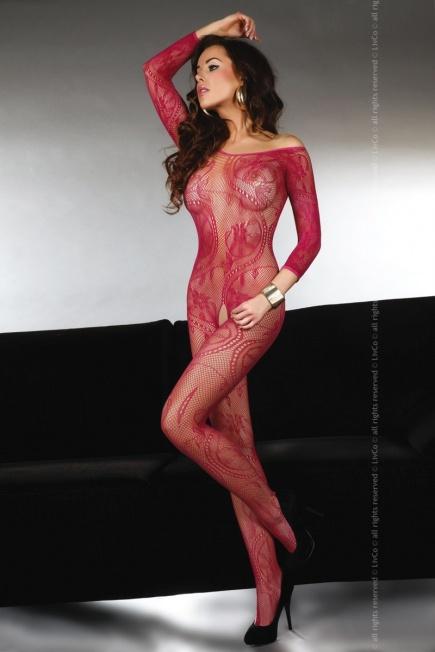 Женский боди - комбинезон с длинным рукавом Abra maroon Livia Corsetti Livia Corsetti