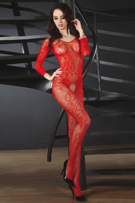 Женский боди - комбинезон с длинным рукавом Abra red Livia Corsetti Livia Corsetti