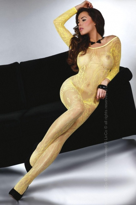 Женский боди - комбинезон с длинным рукавом Abra yellow Livia Corsetti Livia Corsetti