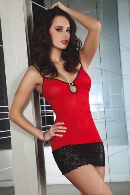 Элегантный пеньюар Constanse red - black Livia Corsetti Livia Corsetti