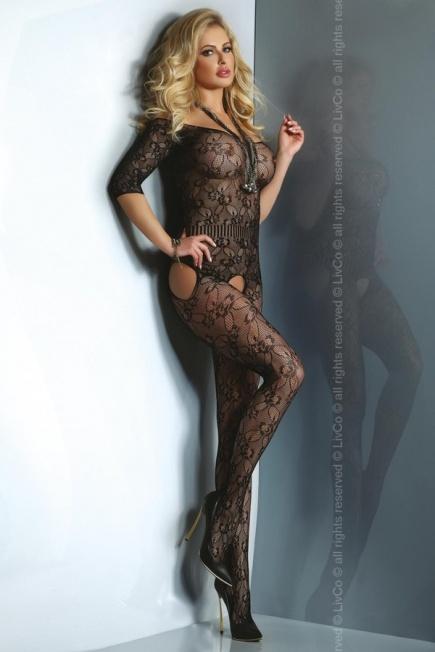 Ажурный женский боди - комбинезон в сеточку Damita Livia Corsetti Livia Corsetti