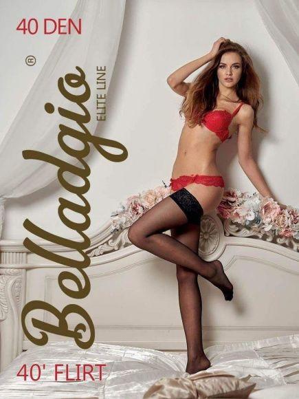 Чулки с кружевом на силиконе Flirt 40den Belladgio Belladgio