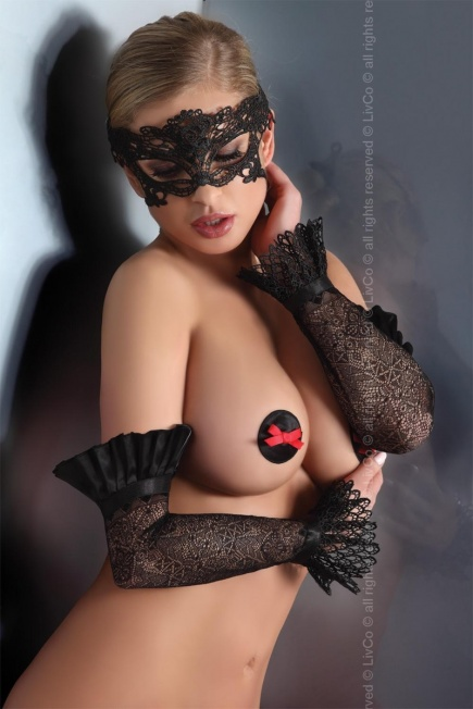 Ажурные черные перчатки 10 Livia Corsetti Livia Corsetti