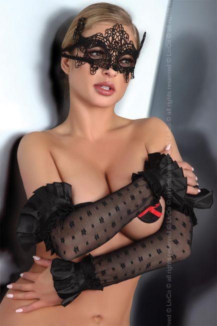 Ажурные черные перчатки 11 Livia Corsetti Livia Corsetti
