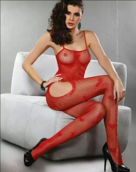 Красный женский боди - комбинезон в сердечки Titania Red Livia Corsetti Livia Corsetti