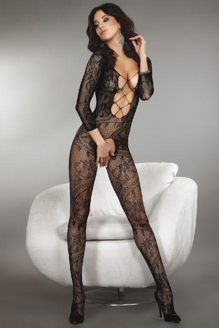 Ажурный женский боди - комбинезон с глубоким декольте Zita black Livia Corsetti Livia Corsetti