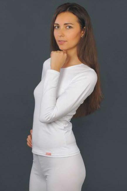 Женская хлопковая футболка с длинным рукавом L 33/005 Lans (несколько цветов) Lans