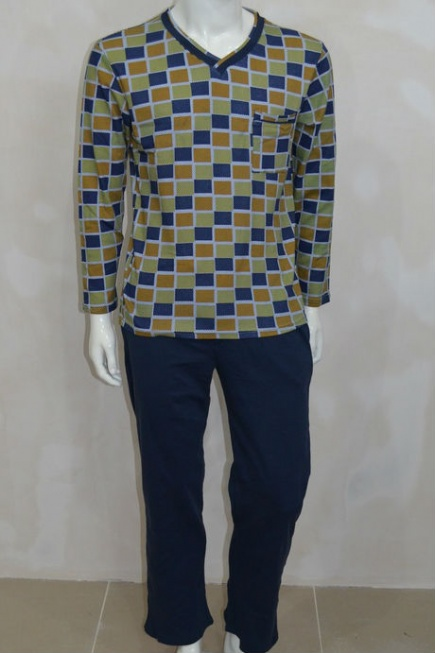 Мужская хлопковая пижама L 52/0010 Lans Lans