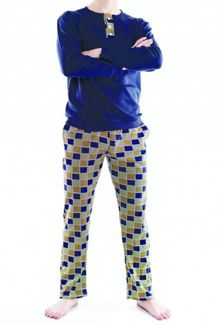 Мужская хлопковая пижама L 52/005 Lans Lans