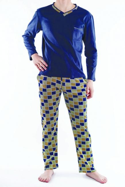 Мужская хлопковая пижама L 52/007 Lans Lans