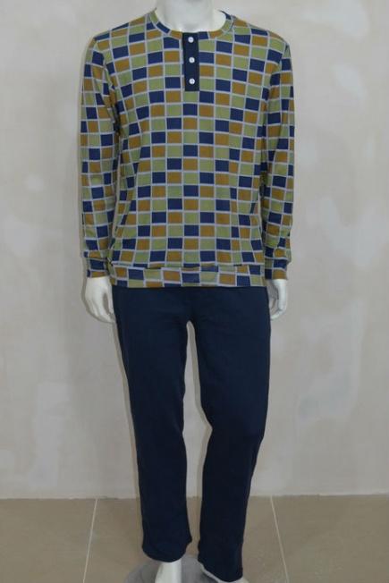 Мужская хлопковая пижама L 52/008 Lans Lans