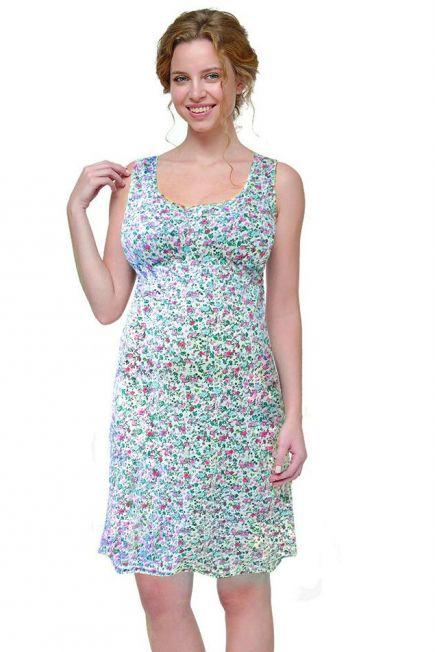 Легкая хлопковая ночная рубашка для беременных и кормящих 24140Мамин дом Мамин дом