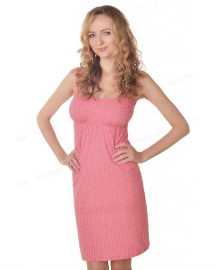 Хлопковая ночная сорочка для беременных и кормящих 24141Мамин дом Мамин дом