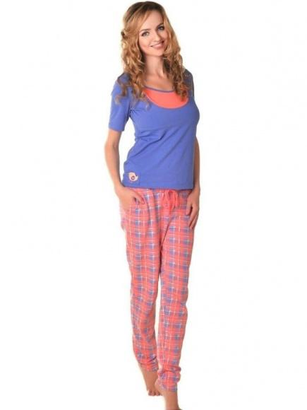 Пижама из хлопка для беременных и кормящих 24171 Мамин дом Мамин дом