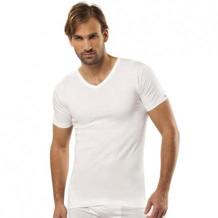 Хлопковая футболка с V вырезом 105 Jiber Jiber
