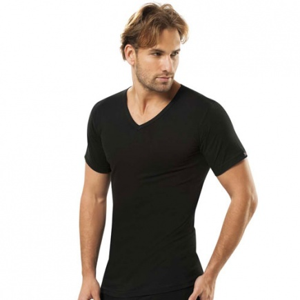 Хлопковая футболка с V вырезом 112 Jiber Jiber