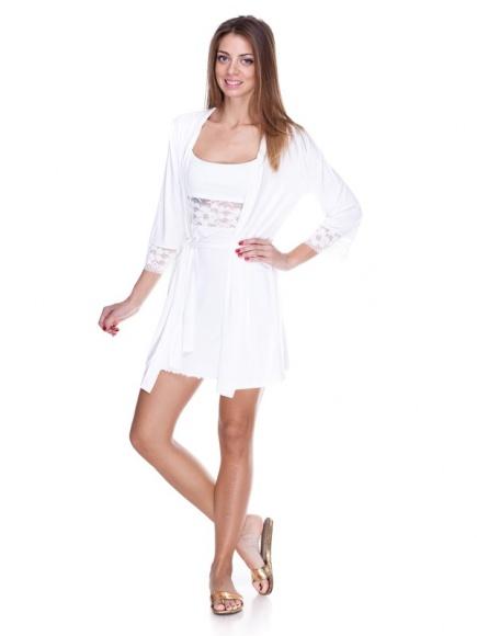 Комплект: халат и ночная сорочка 50013 Fleri (несколько цветов) Fleri