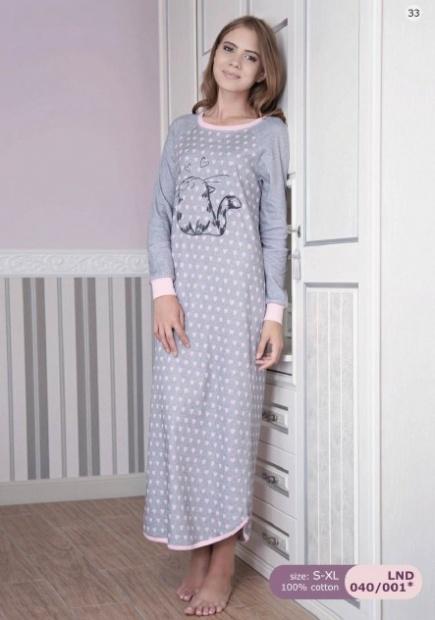Длинная сорочка/платье с начесом LND040/001 Ellen Ellen