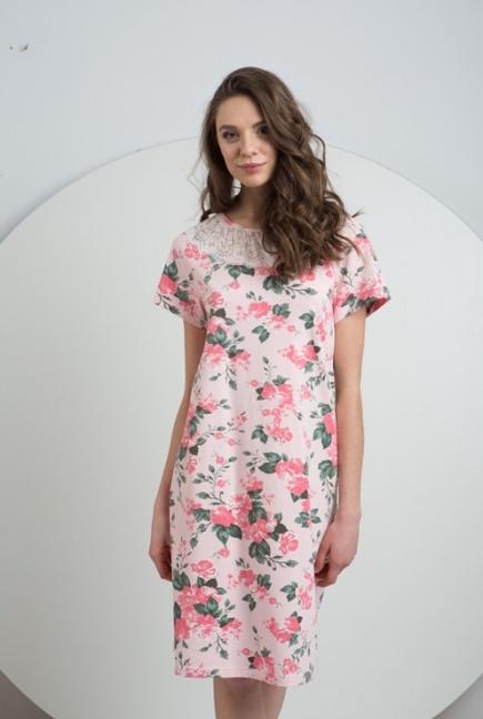 Трикотажная хлопковая ночная сорочка LND 081/001 Ellen Ellen
