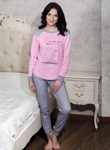 Хлопковая пижама с длинным рукавом и штанами 017/001 Ellen Ellen