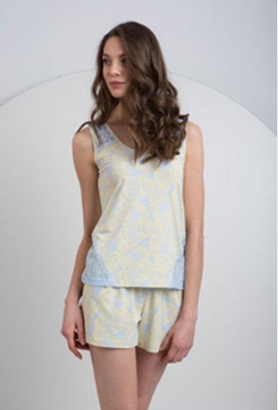 Женская хлопковая пижама с шортиками LNP024/001 Ellen Ellen