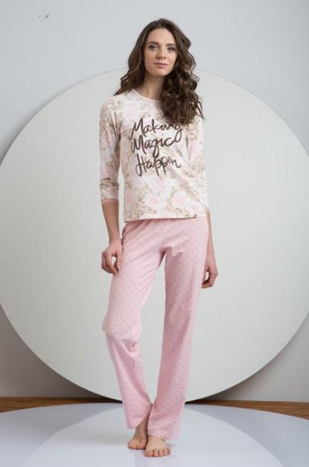 Женская трикотажная хлопковая пижама LNP 032/002 Ellen. Ellen