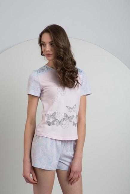 Трикотажная хлопковая пижама футболка и шорты LNP 033/001 Ellen Ellen